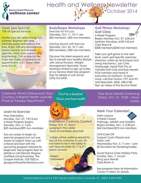 Health and Wellness Newsletter