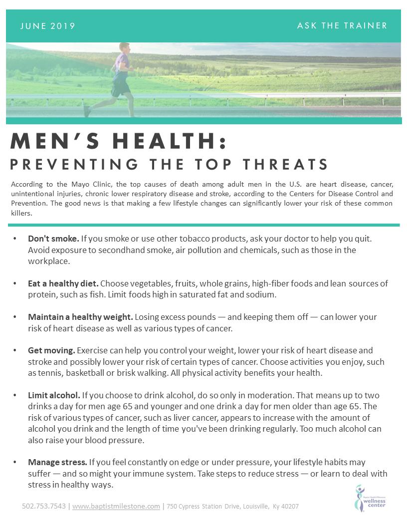 June 2019 Mens Health_Best Practices